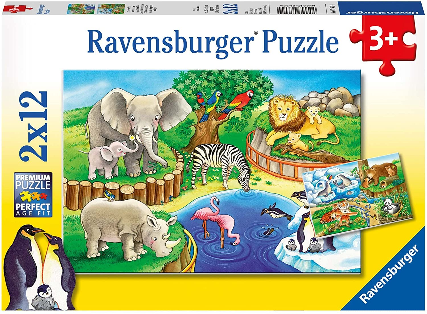 Ravensburger Puzzle Animals in the Zoo 2 x 12 Piece