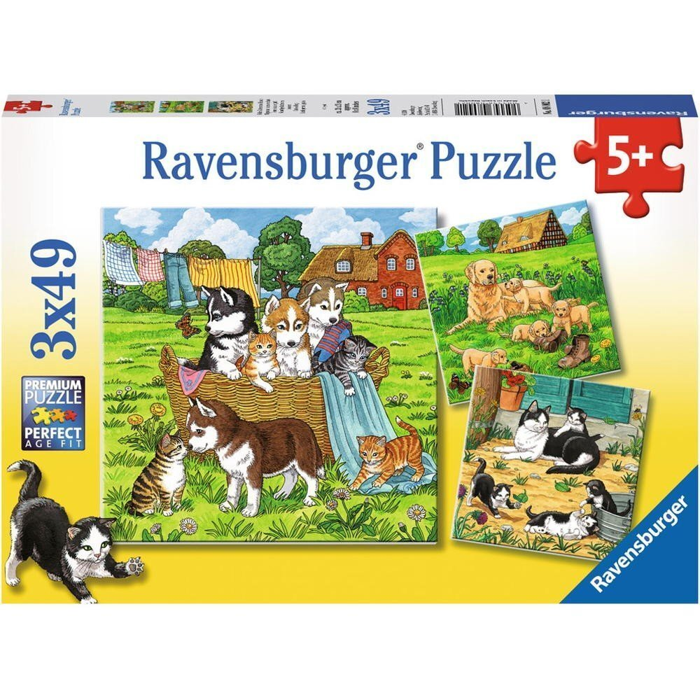 Ravensburger Puzzles 3 x 49 Piece Cats and Dogs
