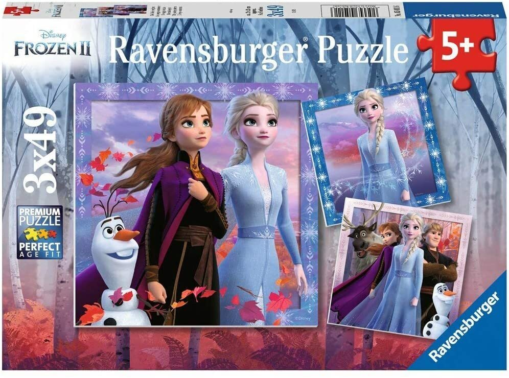 Ravensburger Puzzles 3 x 49 Pieces Frozen 2 The Journey Starts