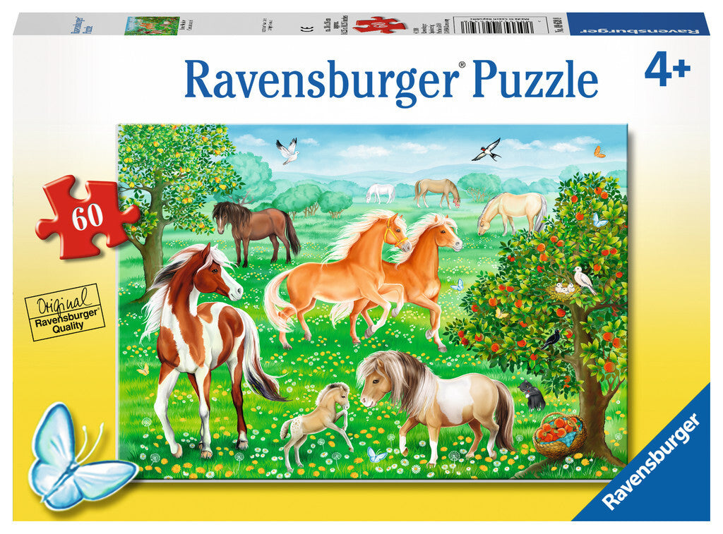 Ravensburger Puzzle Mustang Meadow 60 Piece at Little Sprout