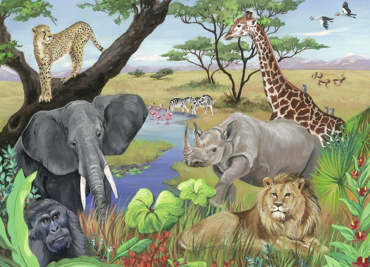 Ravensburger Safari Animals 60 Pc Children's Puzzle box