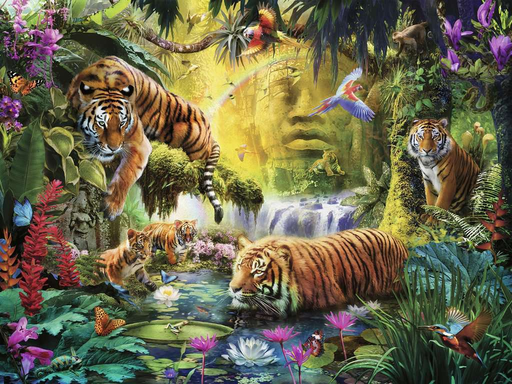 Ravensburger Puzzle 1500 Pc Tranquil Tigers