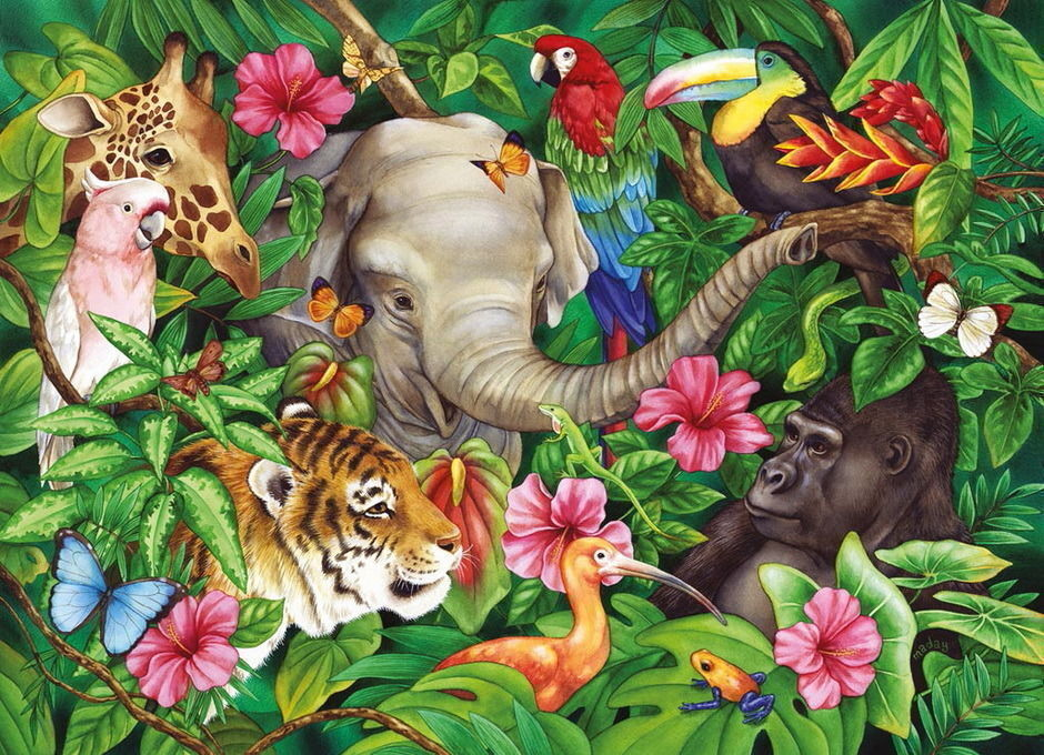 Ravensburger Puzzle 60 Piece Tropical Friends