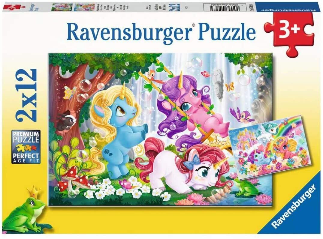 Ravensburger Unicorns at Play 2 x 12 Piece Puzzles at Little Sprout