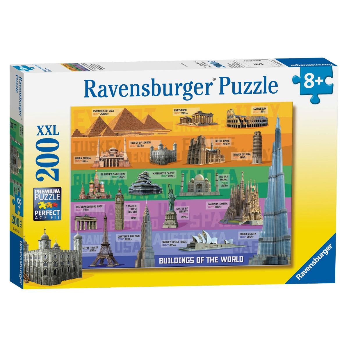 Ravensburger Puzzle World Famous Buildings 200 Pc