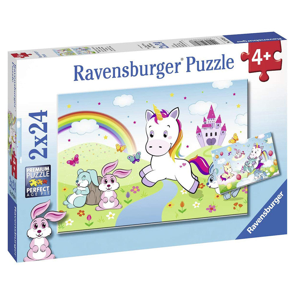 Ravensburger Fair Unicorn Puzzles 2 x 24 Pieces