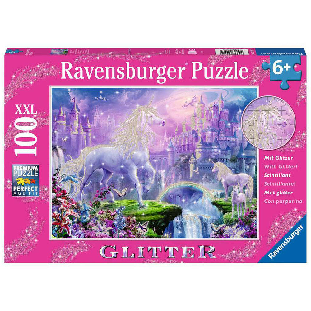 Ravensburger Unicorn Kingdom Glitter Puzzle 100 Pc
