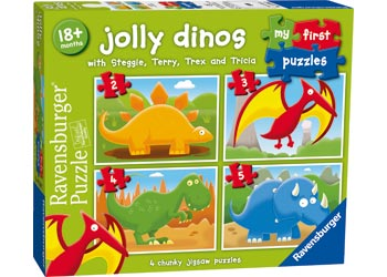Ravensburger - Jolly Dinos My First Puzzle 2, 3, 4 And 5 Pc