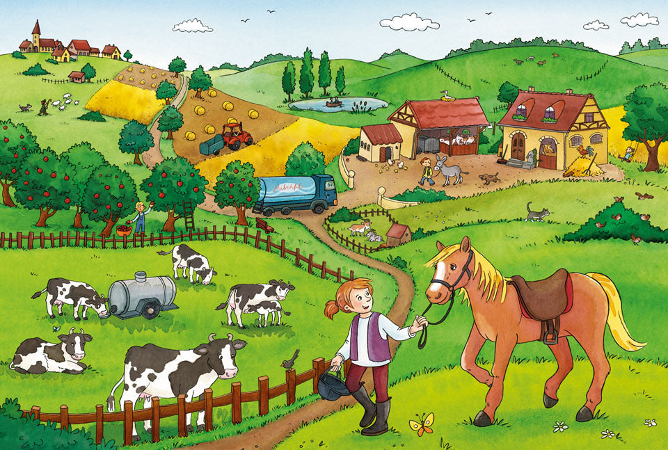 Ravensburger Working on The Farm Puzzle