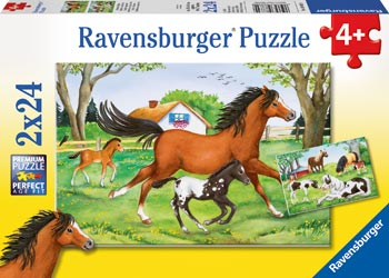 Ravensburger - World Of Horses Puzzle 2 X 24 Pc
