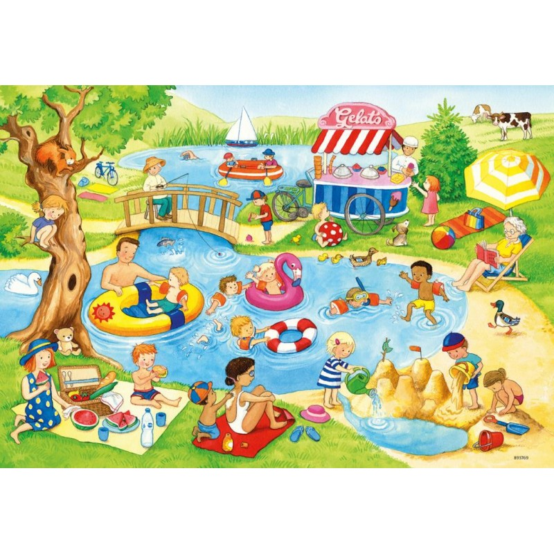 Ravesnburber Swimming at the Lake Puzzle 2 x 24 pieces