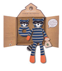 Organic Farm Buddies - Robbie Raccoon Organic Gift Set