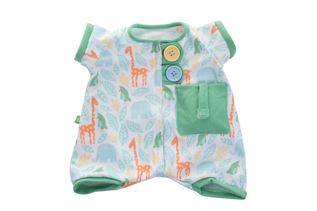 Rubens Barn Pocket Friends Pyjamas for Rubens Barn Baby in Green