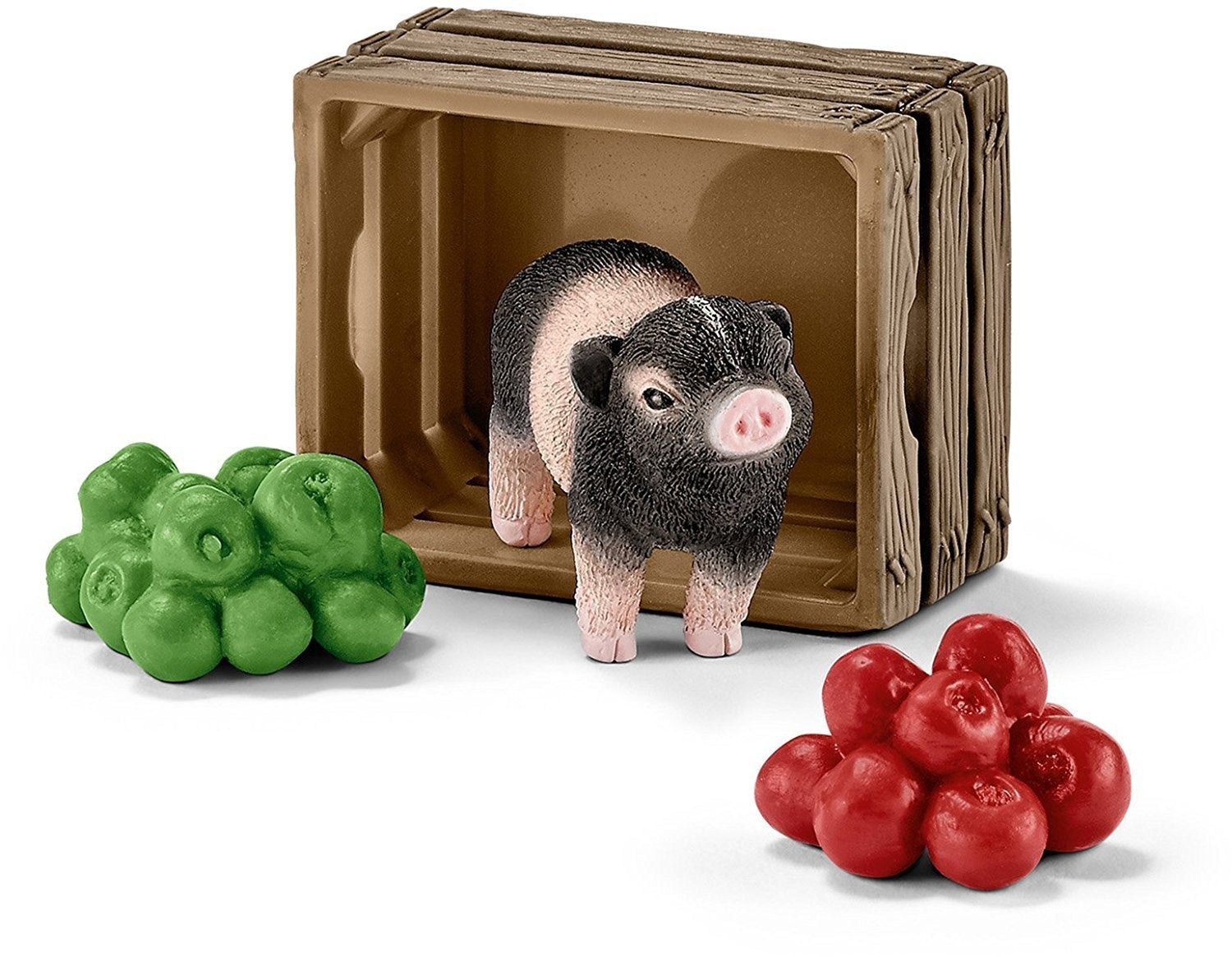 Schleich 42292 Mini Pig with Apples and crate available at Little Sprout