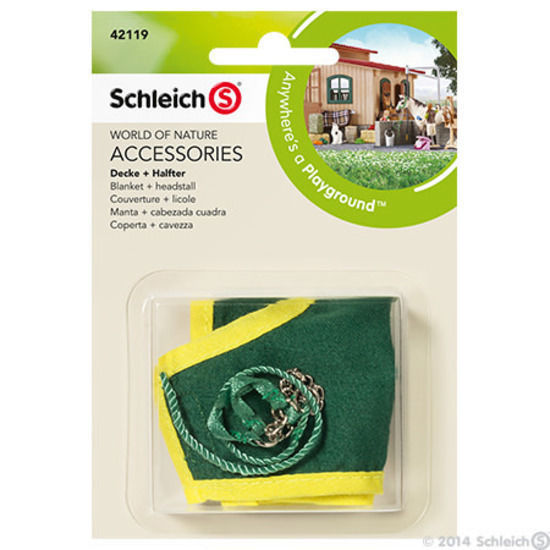 Schleich - 42119 Blanket And Headstall Green