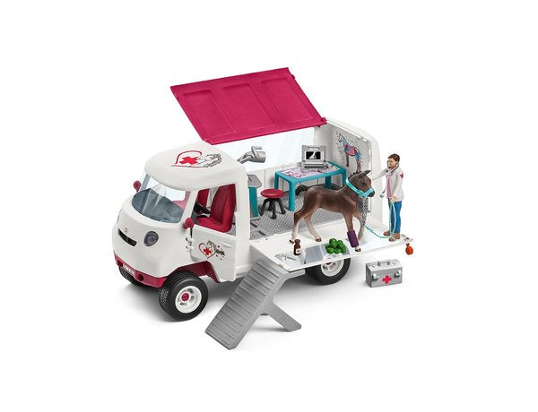 Schleich 42370 Mobile Vet with Hanoverian Foal