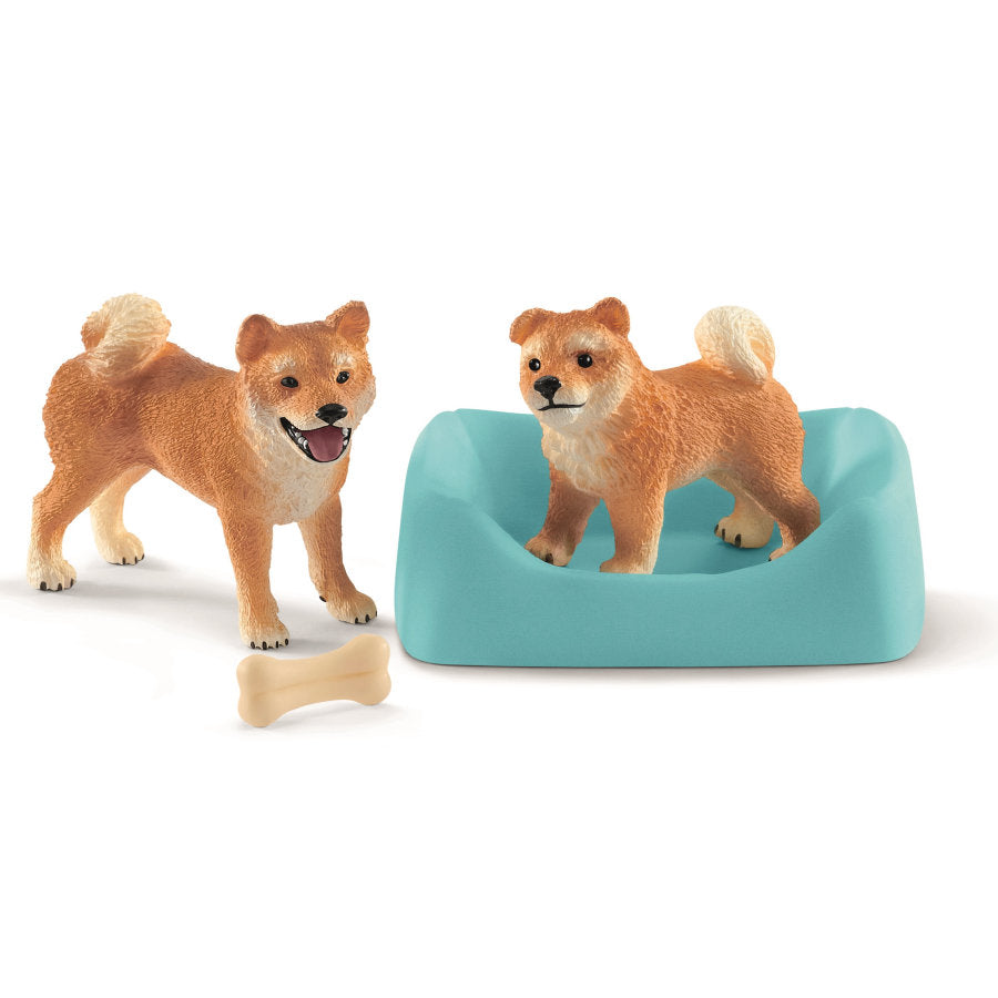 Schleich 42479 Shiba Mother and Pup