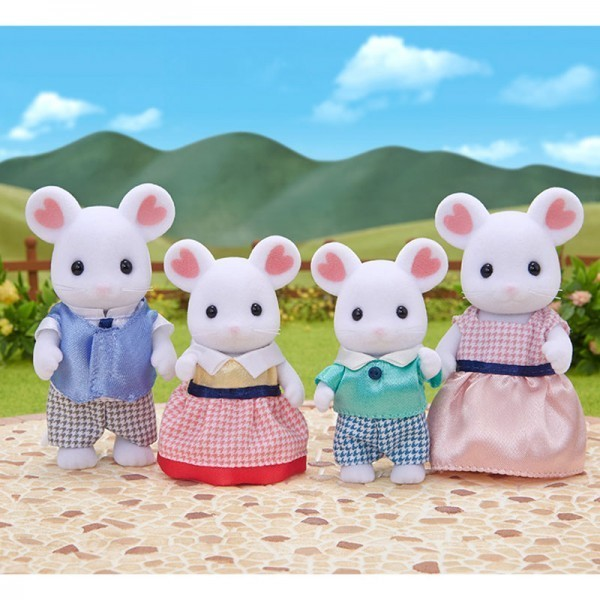 Sylvanian Families Marshmallow Mouse Family at Little Sprout