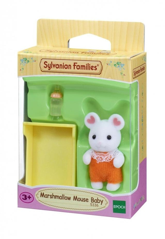 Sylvanian Families 5336 Marshmallow Mouse Baby available at Little Sprout