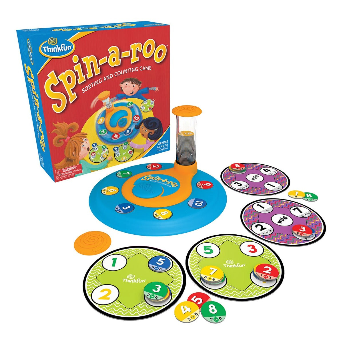 Thinkfun Spin-a-Roo Sorting and Counting Game available at Little Sprout