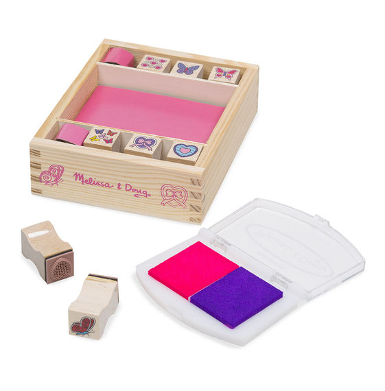 Melissa And Doug- Stamp Set Butterfly And Hearts