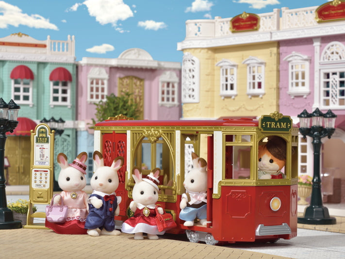 NEW Sylvanian Families 6007 Ride Along Tram available at Little Sprout