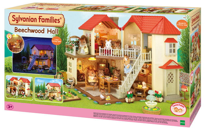Sylvanian Families Beechwood Hall boxed available at Little Sprout