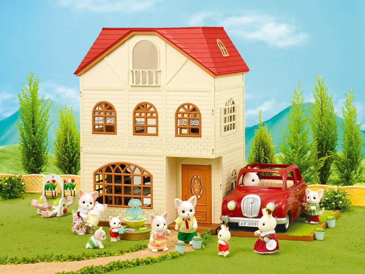 Sylvanian Families 4755 Cedar Terrace with accessories at Little Sprout