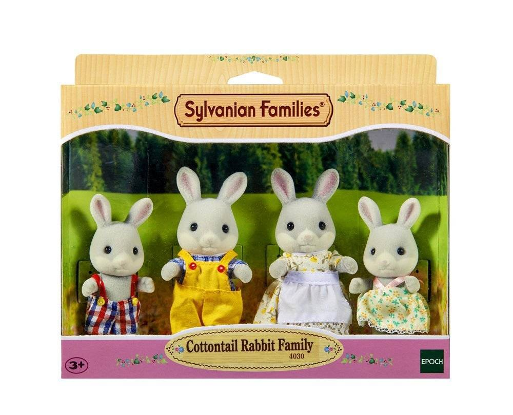 Sylvanian Families 4030 Cotton Tail Rabbit Family