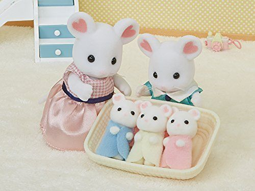 Sylvanian Families Marshmallow Mouse Triplets available at Little Sprout