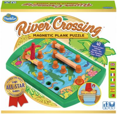 Thinkfun River Crossing Magnetic Plank Puzzle at Little Sprout