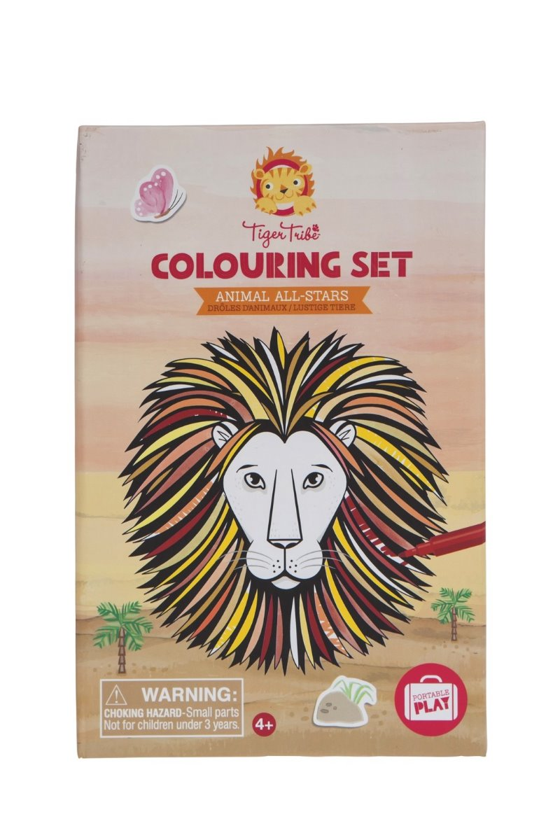 Tiger Tribe Colouring Set Animal All-Stars available at Little Sprout
