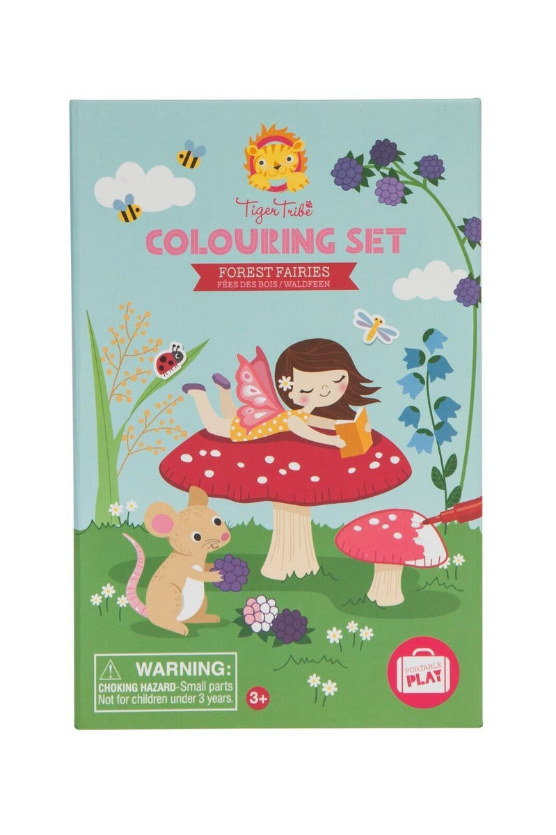 Tiger Tribe Colouring Set Forest Fairies Little Sprout