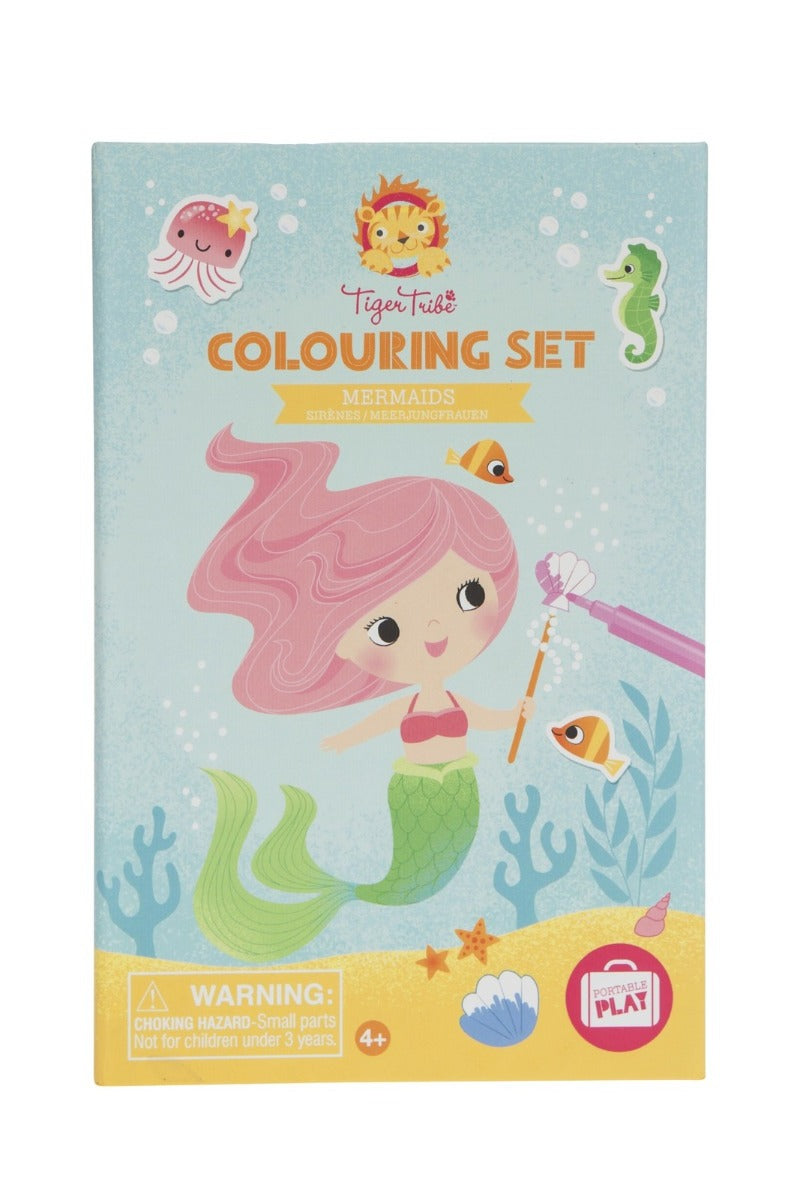 Tiger Tribe Colouring Set Mermaids at Little Sprout