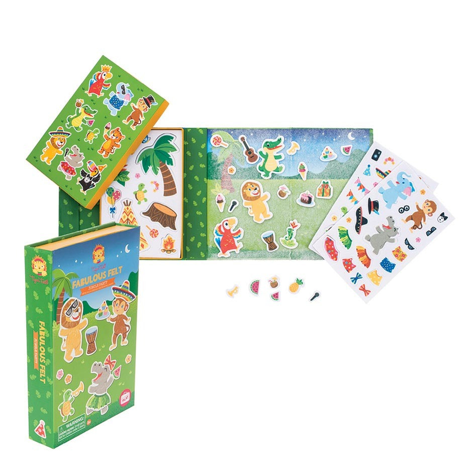 Tiger Tribe Jungle Party Fabulous Felt activity set