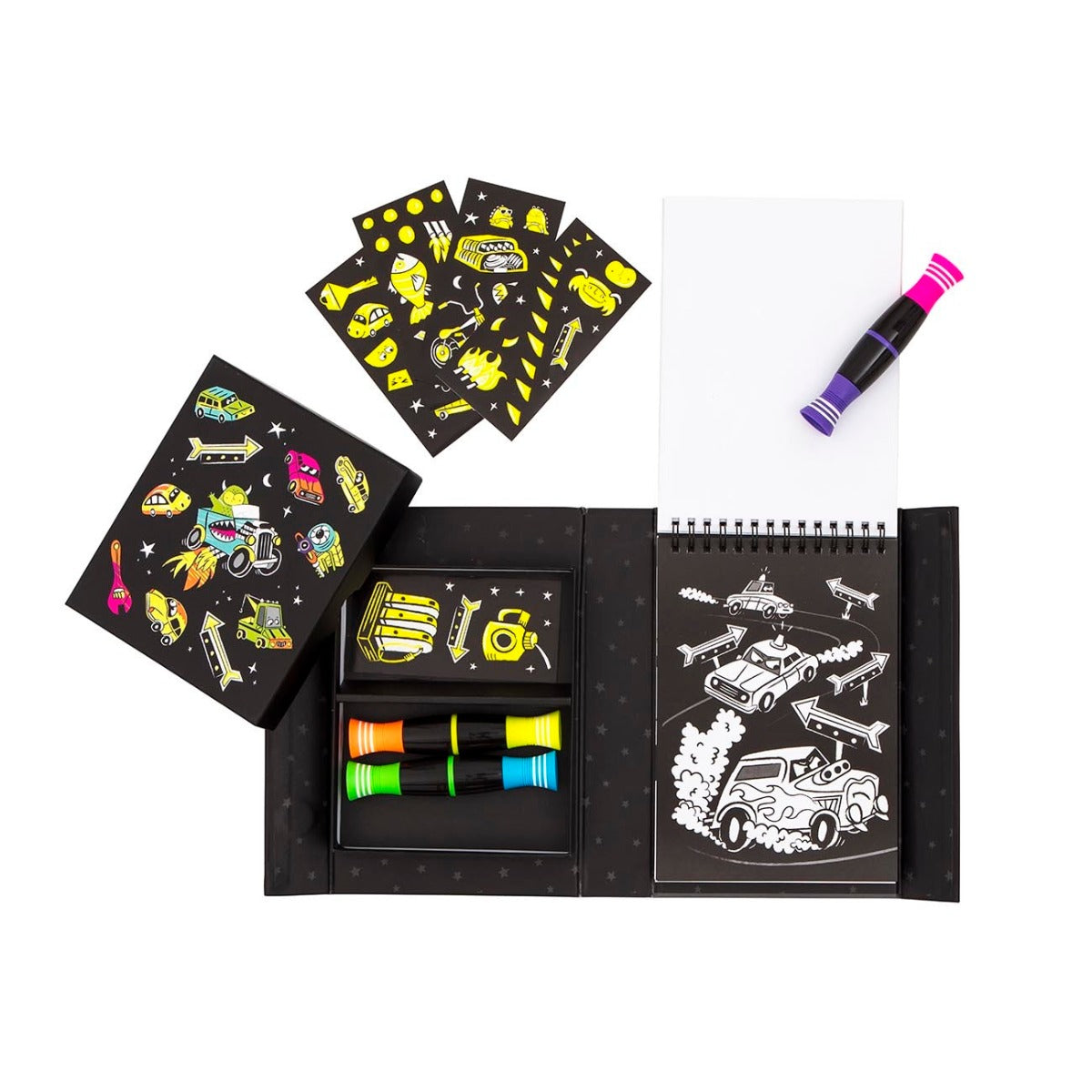 Tiger Tribe Neon Colouring Set Road Stars colouring set