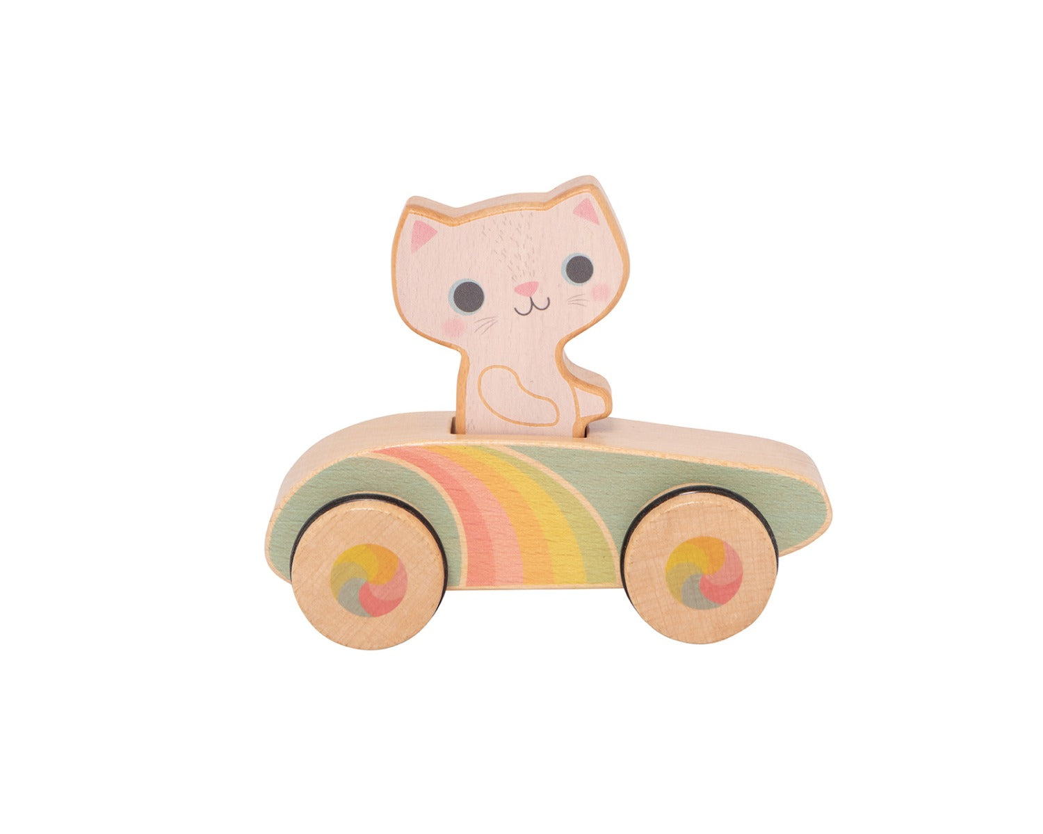 Tiger Tribe Rainbow Roller Wooden Kitty