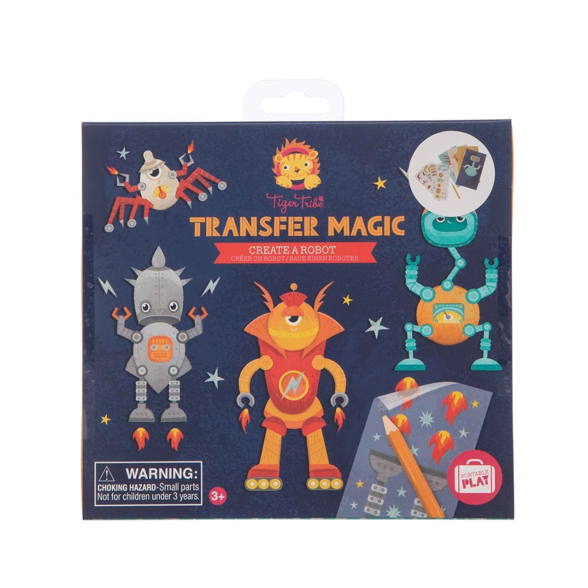Tiger Tribe Transfer Magic Create a Robot box