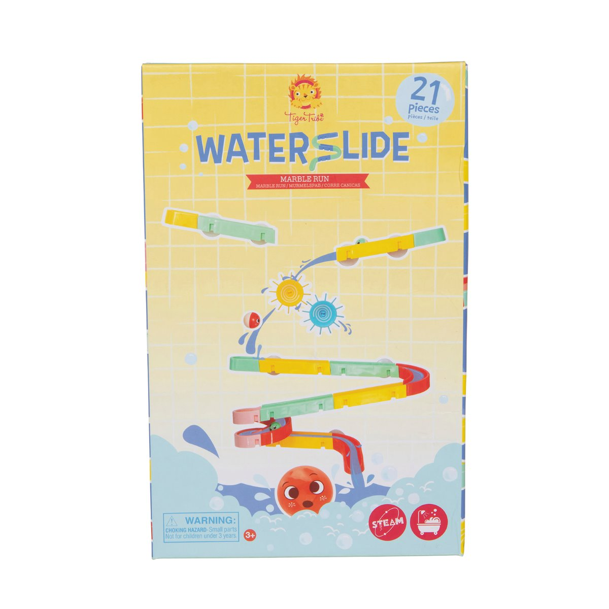 Tiger Tribe Waterslide Marble Run Bath Toy in box