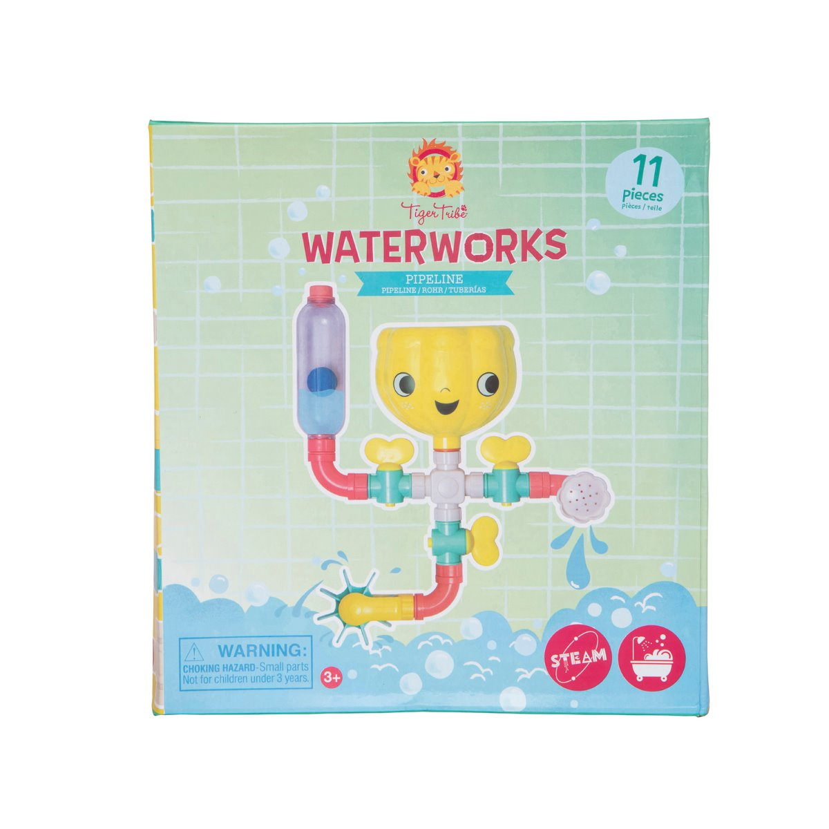 Tiger Tribe Waterworks Pipeline Bath Toy at Little Sprout