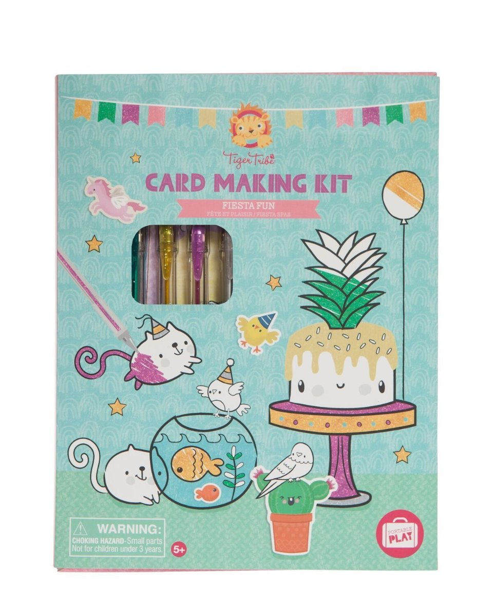 Tiger Tribe Card Making Kit Fiesta Fun available at Little Sprout