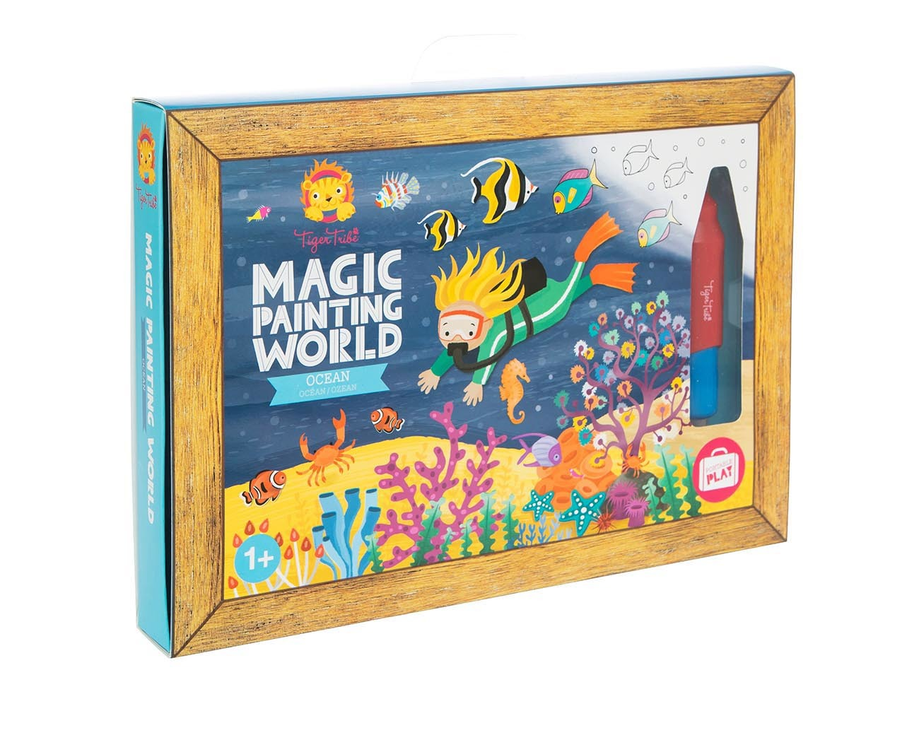 Tiger Tribe Magic Painting World Ocean available at Little Sprout