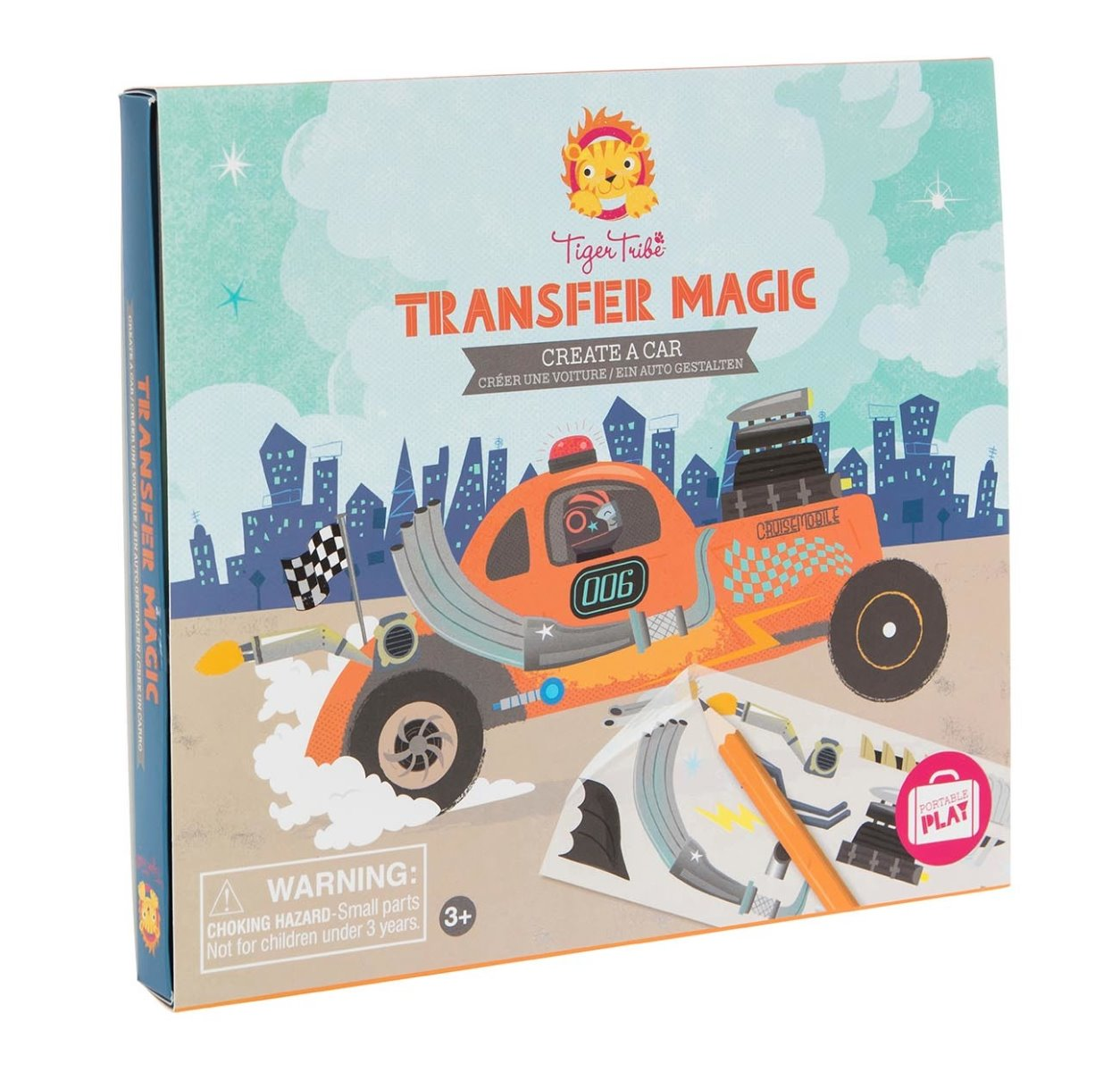 Tiger Tribe Transfer Magic Create a Car available at Little Sprout