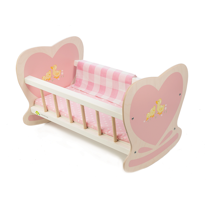 Tender Leaf Wooden Doll Cot at Little Sprout