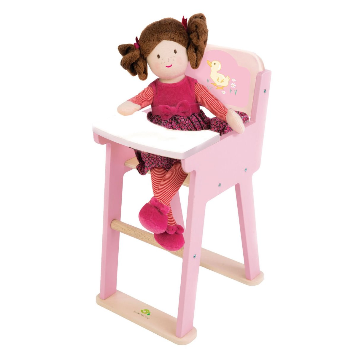Tender Leaf Toys wooden dolls highchair at Little Sprout