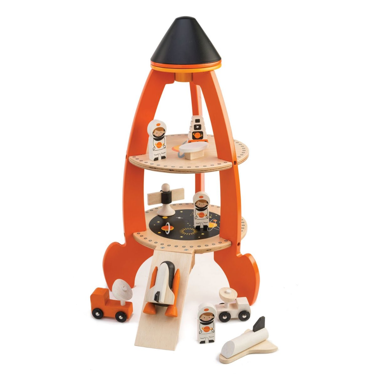 Tenderleaf Cosmic Rocket wooden toy at Little Sprout