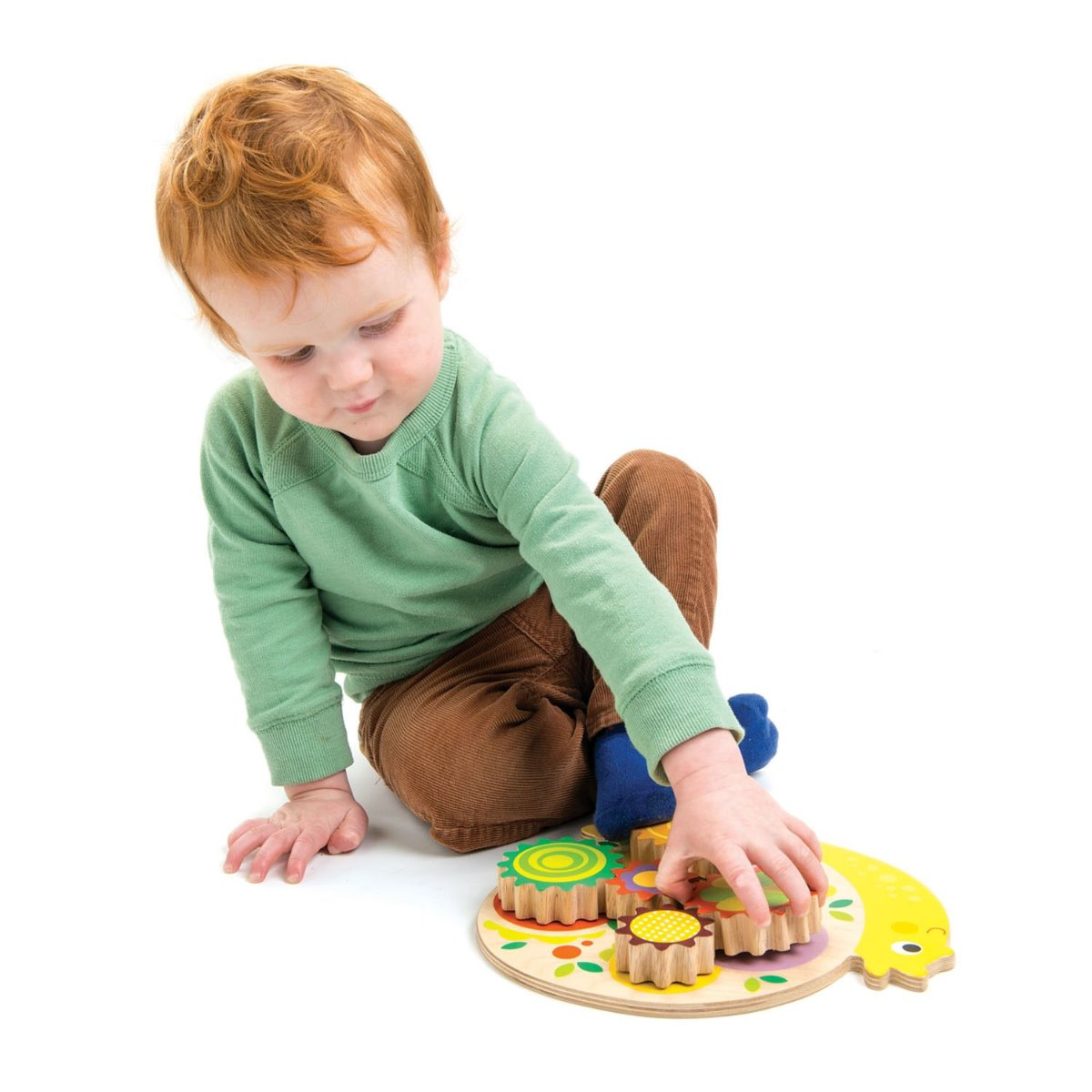 Tender Leaf Toys Wooden Snail Whirl for toddlers at Little Sprout