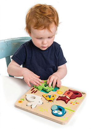 Tender Leaf Toys Touchy Feely Puzzle sensory puzzle at Little Sprout