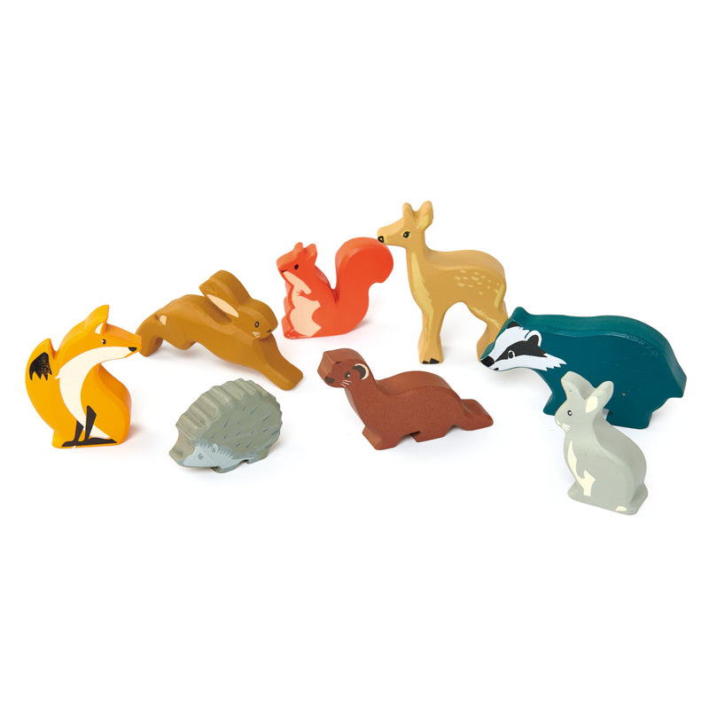Tenderleaf Toys Woodland Animals set and display