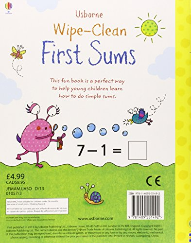 Usborne Wipe Clean First Sums